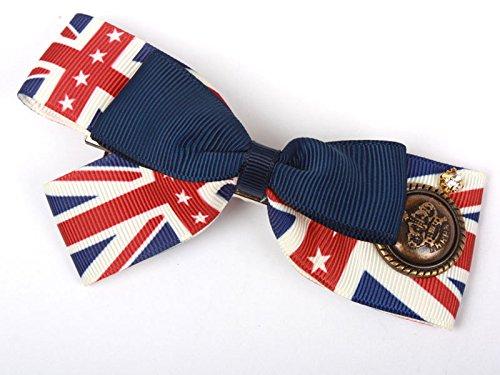 英国旗 大きめ 蝶リボン ヘアピン ファッション 髪飾り レディース