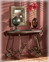 Hot Sale Rafferty - Traditional Dark Brown Sofa Table
