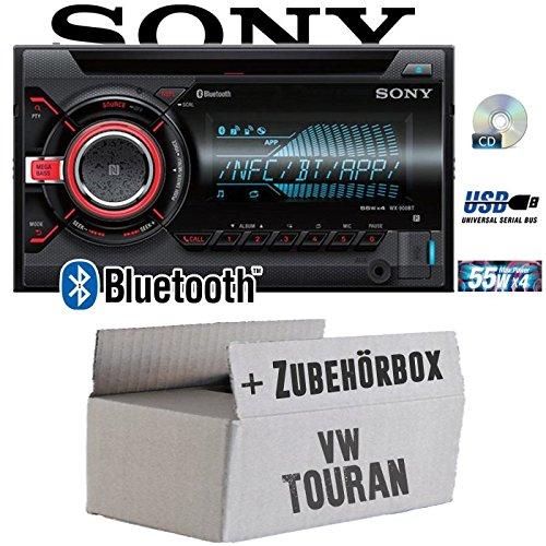 VW Touran - Sony WX900BT - 2DIN Bluetooth CD/MP3/USB Autoradio - Einbauset
