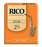 Rico Alto Sax Reeds, Strength 2.5, 10-pack