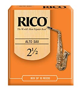 Rico Alto Sax Reeds, Strength 2.5, 10-pack by Rico