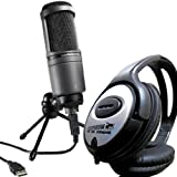 Audio-Technica AT2020 USB Kondensatormikrofon Studio Mikrofon + Keepdrum Kopfhörer GRATIS!