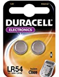 """DURACELL Lot de 2 Blisters de 2 Piles bouton alcaline """"Electronics"""" LR54 1,5 Volt"""