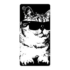 Cute Thug Cat Back Case Cover for Xperia Z3 Plus