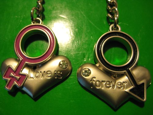 KBF52031 Love heart for couple keychain - Gift for couples
