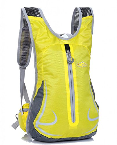 Zerd Hydration Pack Water Rucksack Backpack Bladder Bag Cycling Bicycle Bike Yellow front-266783
