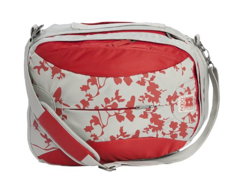 Babymule Diaper Bag In Red & Grey With 5 Great Accessories front-959535