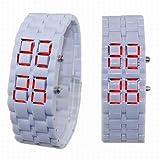 More Color Choices Unisex Bracelet Type LED Movement Wrist Watch Watches