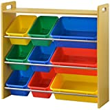 ottostyle.jp 天板付き TOY BOX(トイボックス) おもちゃ箱 トイラック 4段タイプ (ナチュラル×カラフルボックス) おもちゃ収納ボックス ランキングお取り寄せ