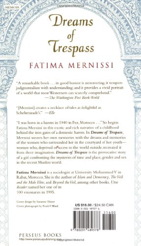 an analysis of memories of mernissi in the dreams of trespass In dreams of trespass, mernissi weaves her own memories with the dreams and memories of the women who surrounded her tales of a harem girlhood, this is the.