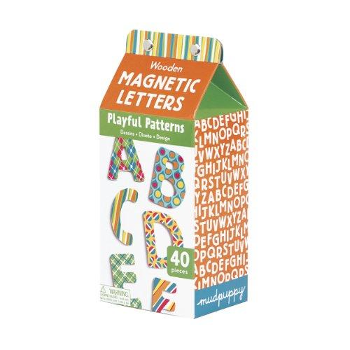 Playful Patterns Uppercase Letters Wooden Magnetic Set