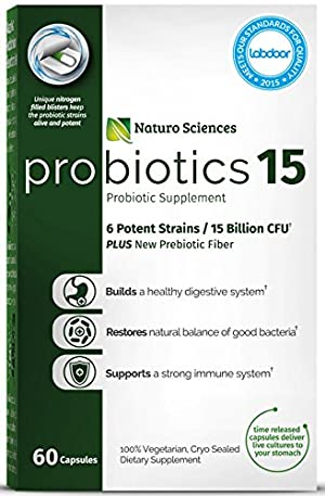 Naturo Sciences Probiotics 15 Billion CFU