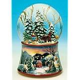 Spieluhrenwelt 48084 - Juguete de bola de nieve, diseño de trineo