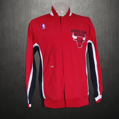 Michael Jordan Autographed Chicago Bulls Warm-Up Jacket (LE of 23) at Amazon.com