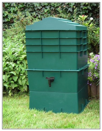 UK Made 4 Tray Wormcity Wormery WITH 500g Worms INCLUDED (100 Litre Size) (Green)
