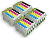 16 Compatible Printer Ink Cartridges for Epson Stylus SX400 - Cyan / Magenta / Yellow / Black- Longlife