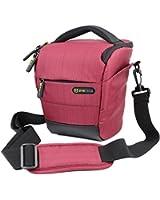 Camera Case - Evecase Digital SLR / DSLR Professional Camera Shoulder Bag For Compact system, Hybrid, SLR / DSLR and High Zoom Camera - Red