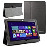 Evecase® SlimBook Leather Folio Stand Case Cover for Acer Iconia W510 10.1'' / 10.1-Inch Windows 8 Tablet ---... by Evecase