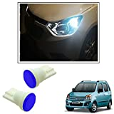 #8: Vheelocityin Car Ceramic Button Shape Blue LED Parking Bulbs (set of 2) For Maruti Suzuki Wagon R 1.0 Old