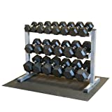 51OR7SJ8oRL. SL160  Body Solid GDR363 RFWS Dumbbell Rack with Rubber Dumbbells
