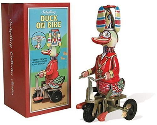 Schylling Wind-Up Duck on Bike