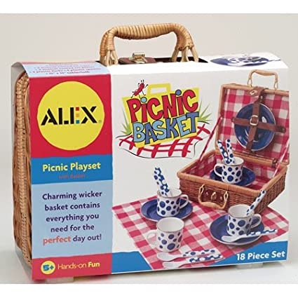 Alex Toys Kids Picnic Basket Set