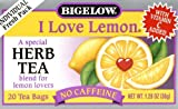 Bigelow, Herb Tea, I Love Lemon, Caffeine Free, 20 Tea Bags, 1.28 oz (36 g)