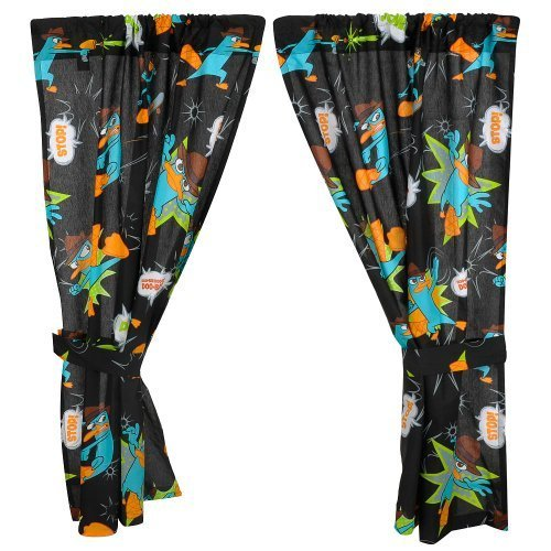Disney Phineas and Ferb Window Drapes - 1