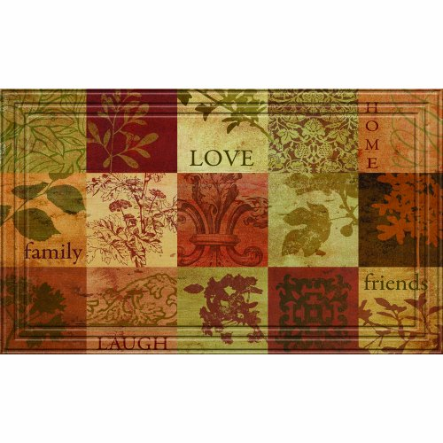 18-Inch by 30-Inch Walnut Apache Mills Blocks Doormat