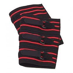 Iso Solid Body Building Knee Wrap Elastic Unisex Free Size Black