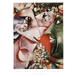 (22x28) Marc Chagall I and the Village Art Poster Print