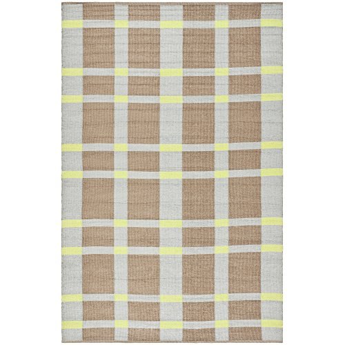 Safavieh Thom Filicia Collection TMF123C Hand-Woven Lawn Green Recycled Plastic Area Rug, 3 feet by 5 feet (3' x 5')