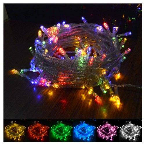 Decorative Lighting 10M 100 Led String Light Decoration Light For Christmas Party Wedding 8 Lighting Modes With Controller