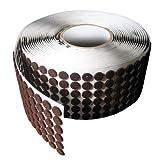Brown Adhesive Kiss Cut Felt Button Rolls - Medium Duty 1/16