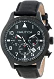Nautica Unisex N18685G BFD 105 Stainless Steel Watch with Black Cloth Band