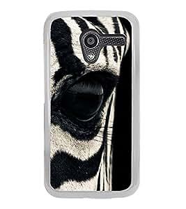 Zebra Eye 2D Hard Polycarbonate Designer Back Case Cover for Motorola Moto X :: Motorola Moto XT1052 XT1058 XT1053 XT1056 XT1060 XT1055