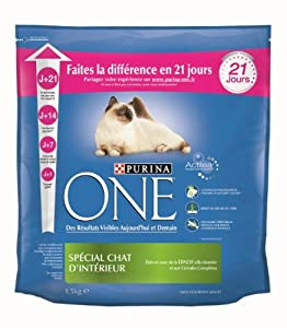 Purina One Chat - Adulte Intérieur - 1,5 kg