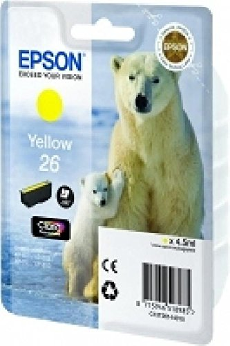Epson original - 26-jaune-cartouche d'encre-pour expression photo xP - 760, 860 expression premium xP - 510, 520, 615, 625, 620, 710, 720 ePS, 820 c13T26144010 xP600 claria encre magenta 5 ml 300pages haute