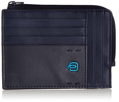 Piquadro Pulse Portafoglio, Pelle, Blu, 12.00 cm