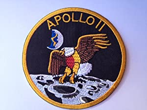 "NASA Apollo 11 Mission Patch (4"" / 10cm) Embroidered Badge ..."
