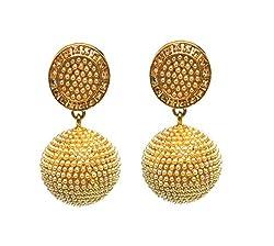 Satyam Jewellery Nx LCD Pearl Jhumki Earrings For Women Fashion Jewellery (Wedding Season)