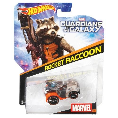 Hot Wheels, Marvel Guardians of the Galaxy Die-Cast Car, Rocket Raccoon #12, 1:64 Scale