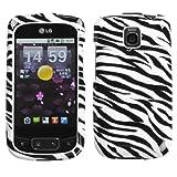 Zebra Skin Phone Protector Cover for LG P505 (Phoenix), LG Thrive