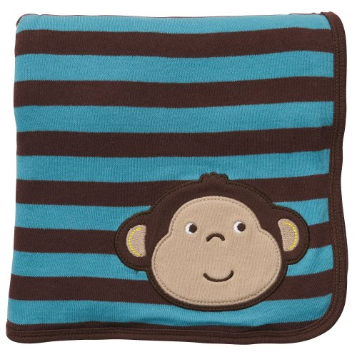 "Carter'S Baby Boys' ""Monkey Time"" 2-Ply Receiving Blanket front-137040"