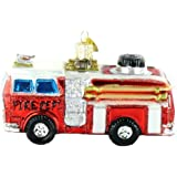 Old World Christmas Glass Ornament - Fire Truck