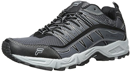 Fila Men's AT Peake Trail Running Shoe, Castlerock/Hirise/Black, 13 M US