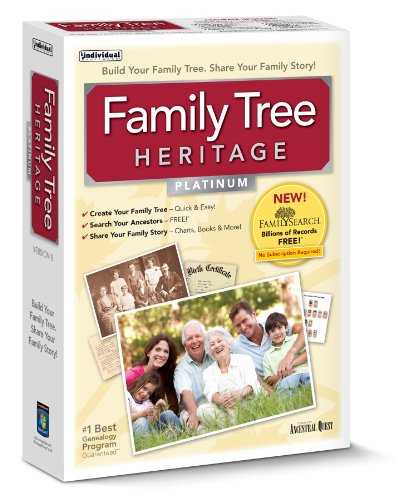 Individual Software Family Tree Heritage Platinum