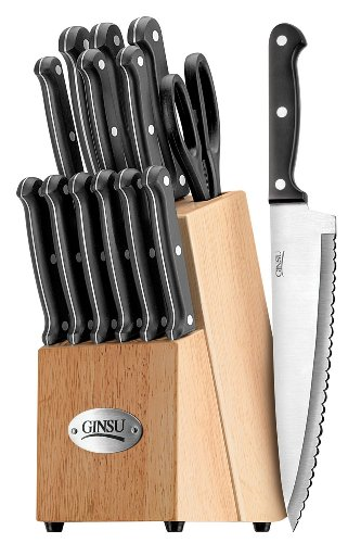 Ginsu 04817 International Traditions 14-Piece Knife Set with Block NaturalB0006TJ7KE