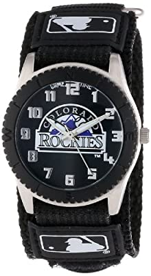 "Game Time Unisex MLB-ROB-COL ""Rookie Black"" Watch - Colorado Rockies"