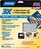 Norton 05386 9-Inch X 11-Inch 3X Assorted Grit Sand Paper, 4-Pack